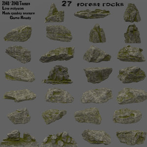 rock forest 3D model