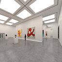 art gallery interior 3D