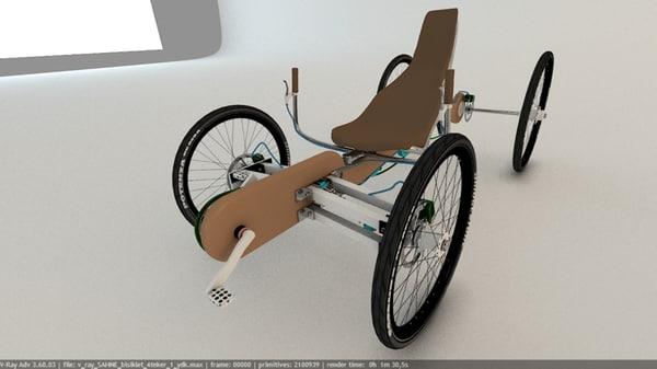 3D 4 wheel