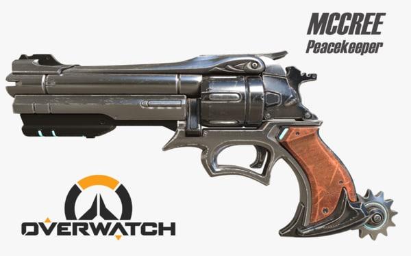 overwatch mccree peacekeeper 3D