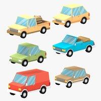 cartoon cars 3D