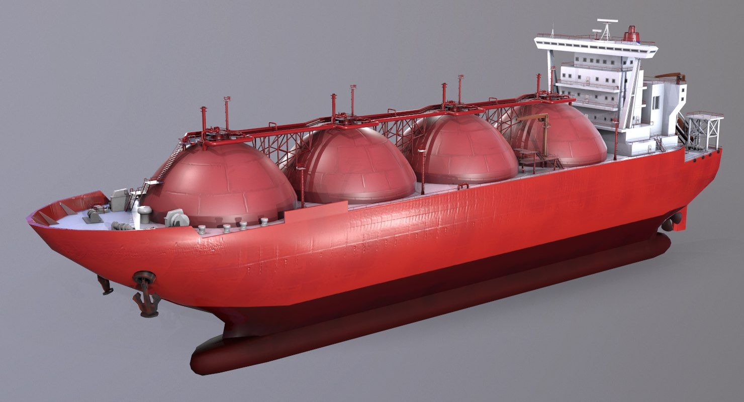 3D model lng carrier