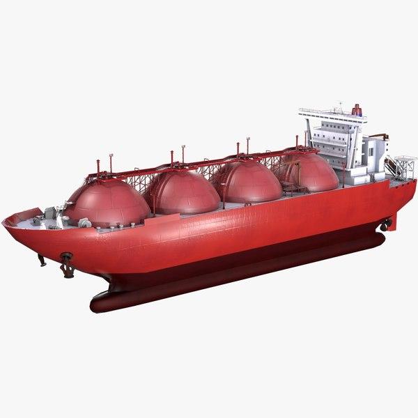 3D model lng carrier