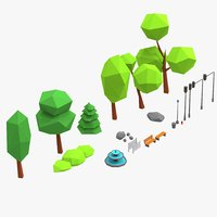 details objects park 3d 3ds