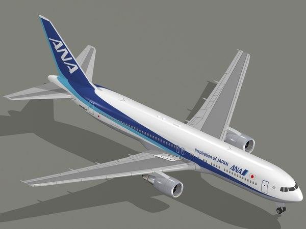 3D boeing 767-300 er nippon