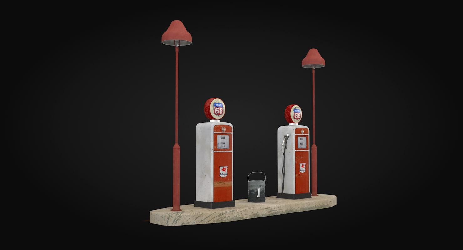old petrol station 3d model