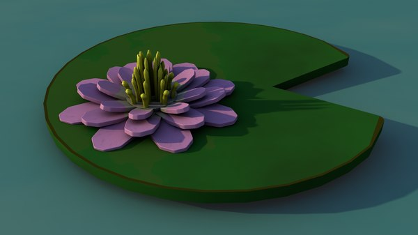 3D water lily