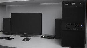 3d unity computer desk