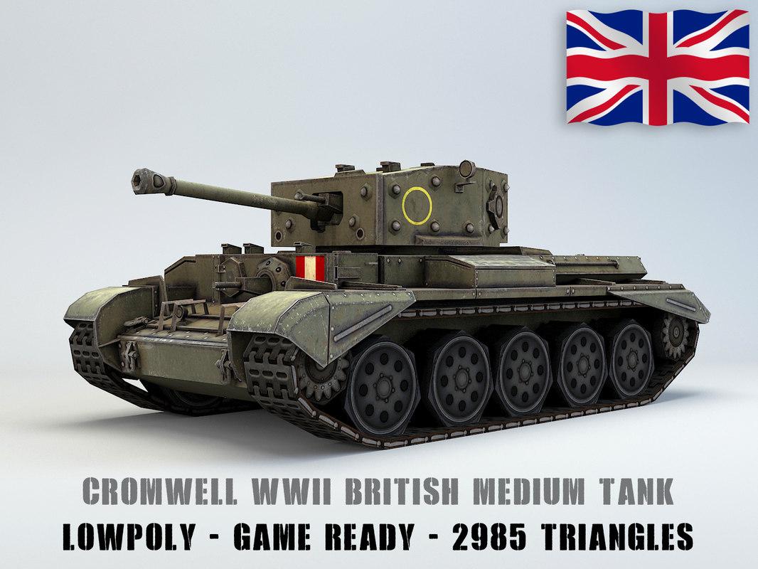 3D british medium tank cromwell