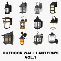 Outdoor wall lanterns collection vol.1