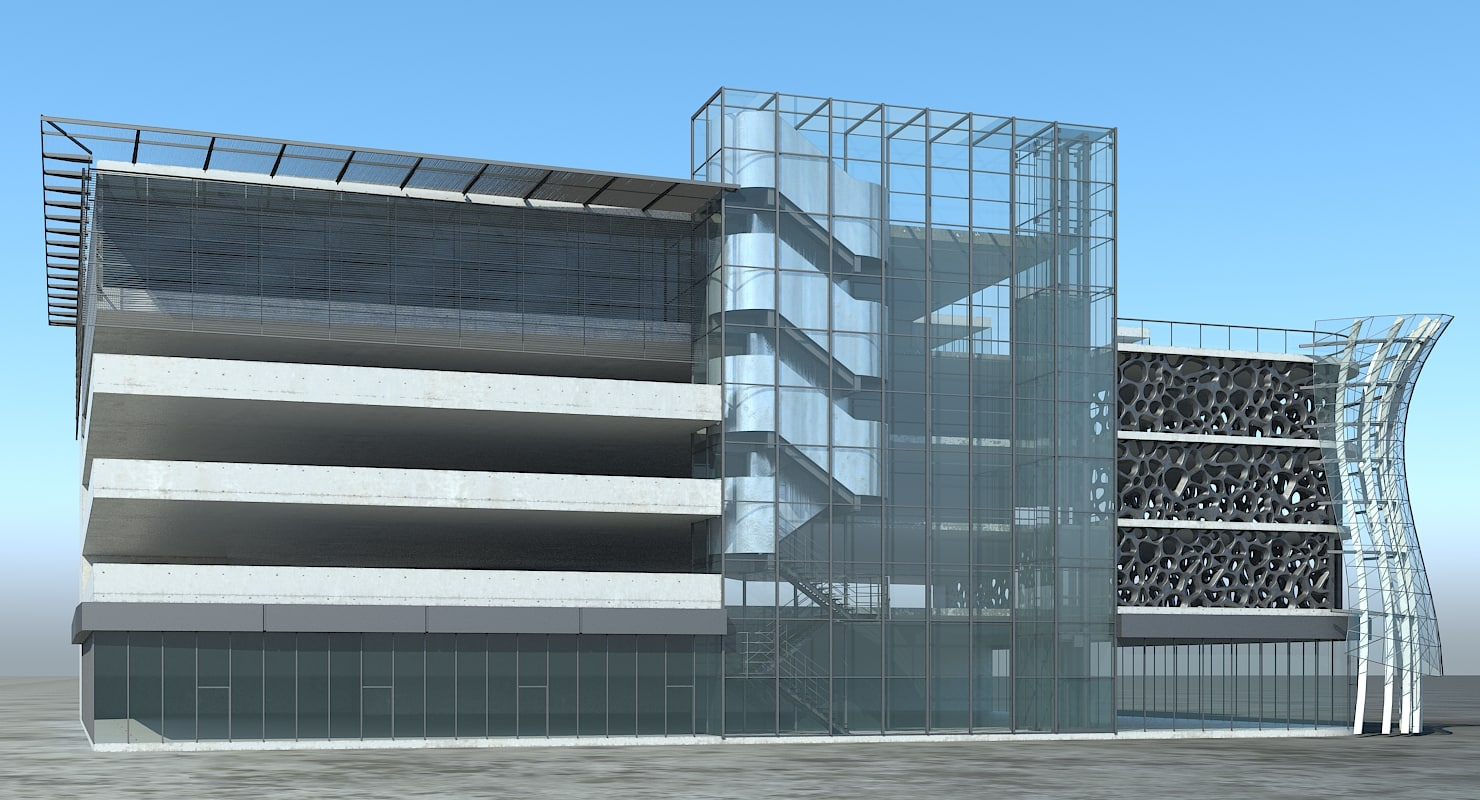 multi-storey car park 3D model