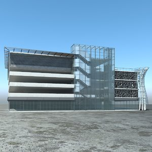multi-storey car park 3D model
