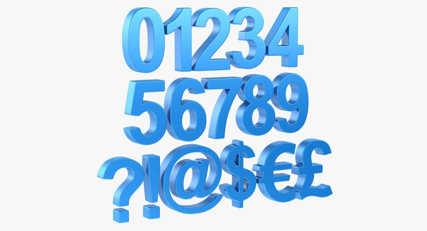 3d model number symbol