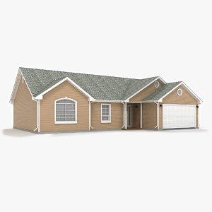 3d model cottage siding