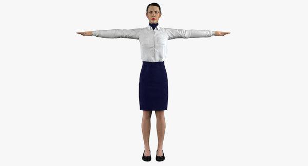 stewardess - 3D model