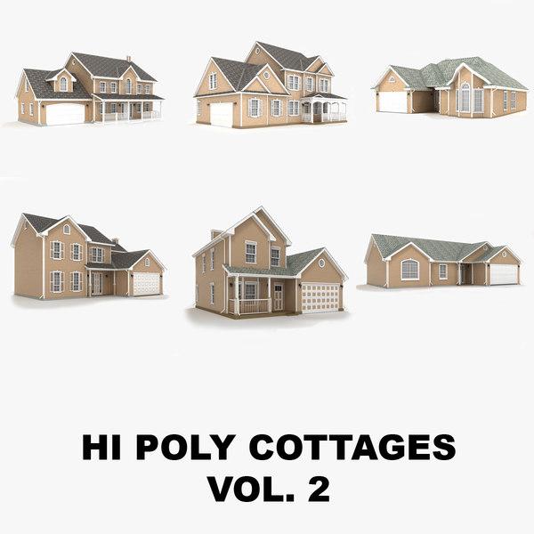 3d hi-poly cottages vol 2