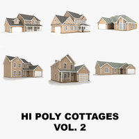 Hi-poly cottages collection vol.2