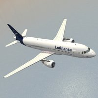 airbus a320-214 lufthansa airplanes 3D model