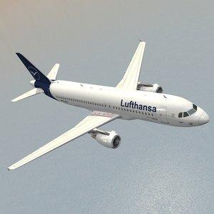 airbus a320-214 lufthansa airplanes 3D model
