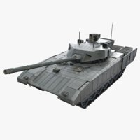 3d tank armata t-14 russian model