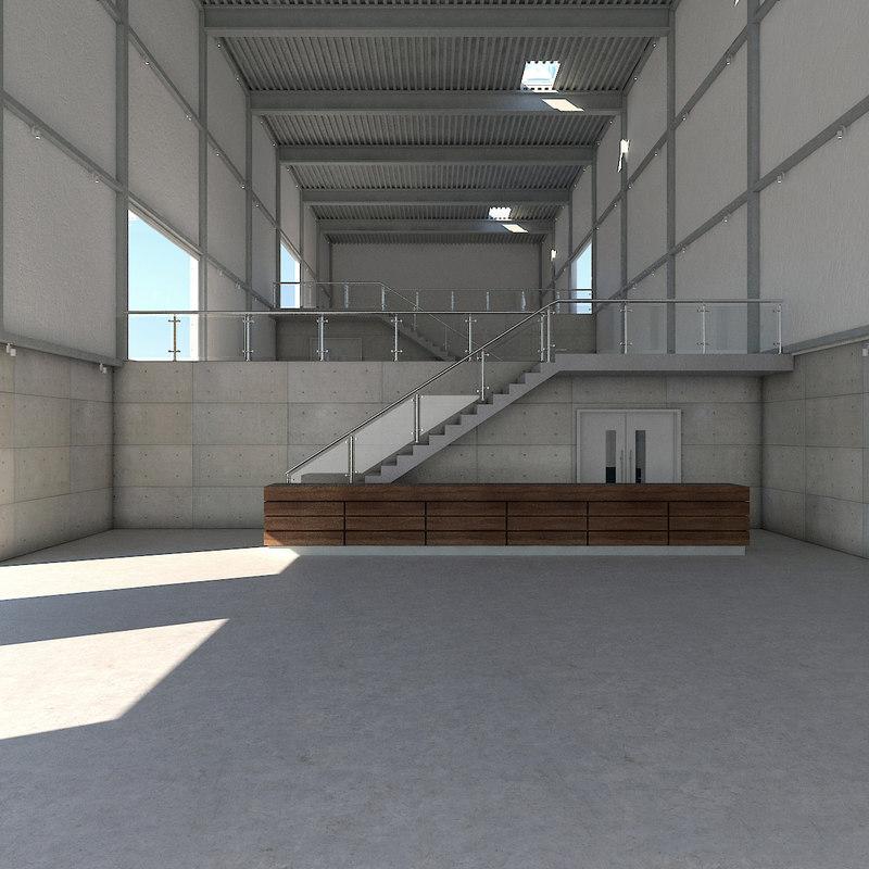 warehouse interior model