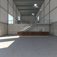 warehouse interior model