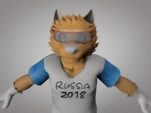 russia 2018 mascot 3D