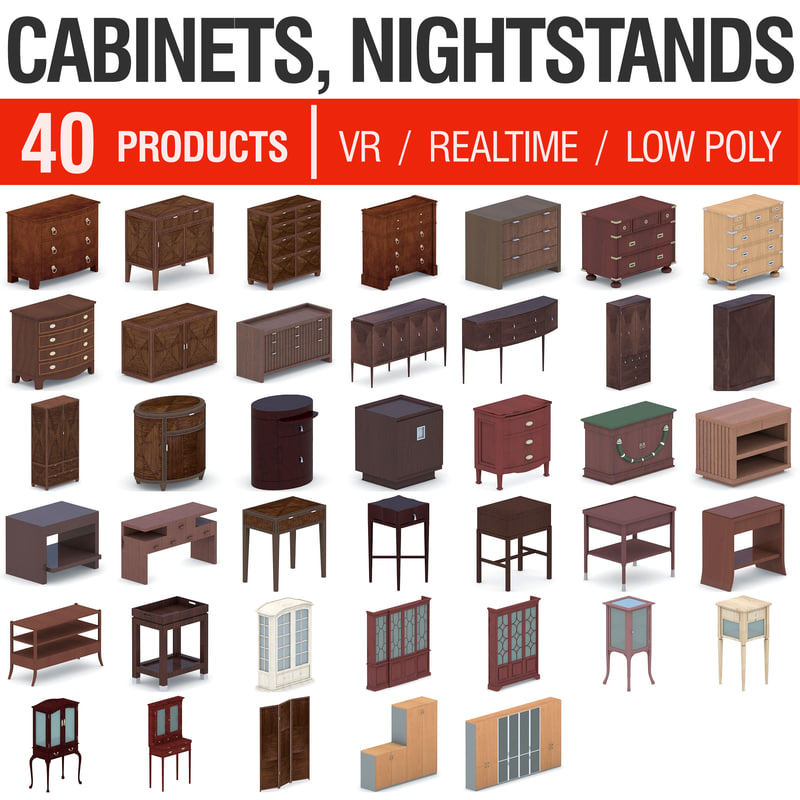 cupboards cabinets - 40 3D