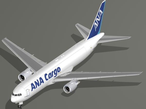 boeing 767-300f aircraft nippon 3D model