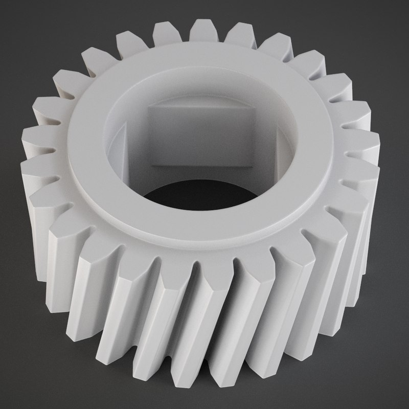 helical gear print 3d obj