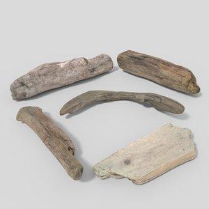 3D driftwood 01