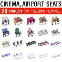 airport seating - 20 model
