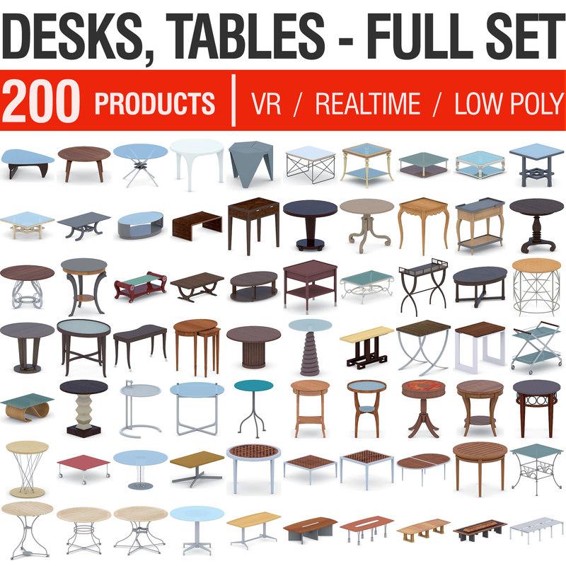 3D desks tables - 200
