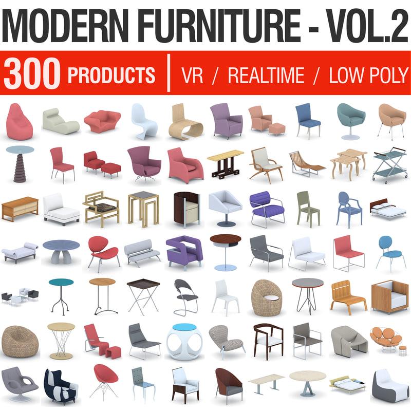 3D modern furniture - 300 model