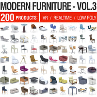 modern furniture - 200 3D model