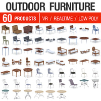 outdoor furniture - 60 3D model