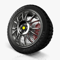 spokes wheel car 3d c4d