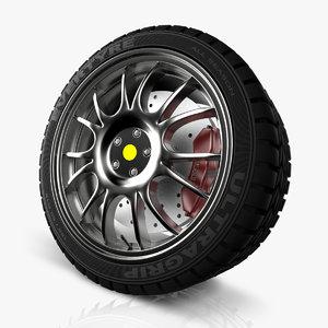 spokes wheel car 3d c4d