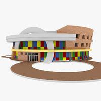 city kindergarten 3d model