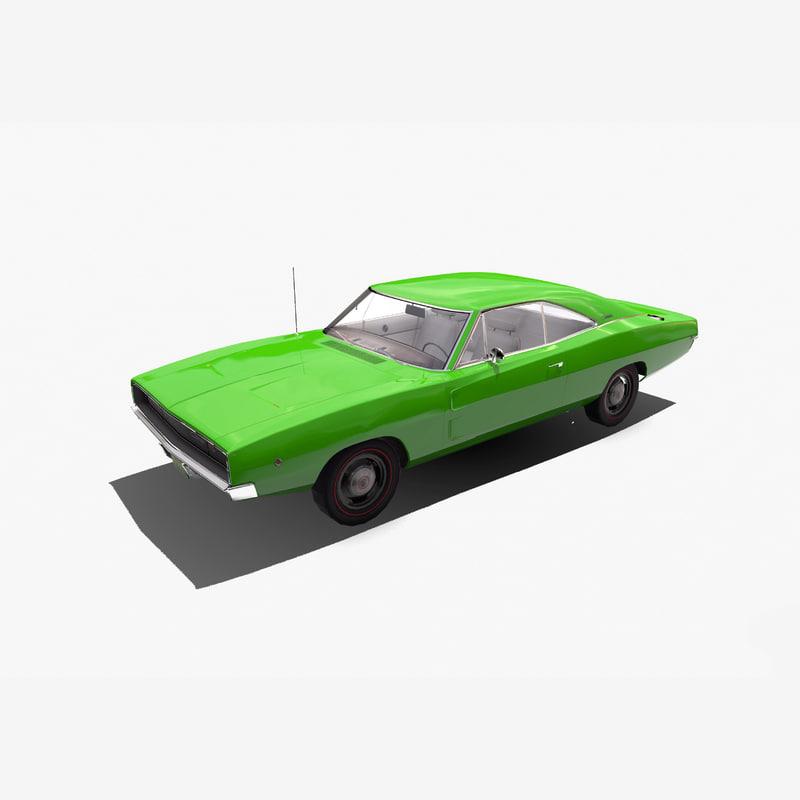 1968 dodge charger 3d model