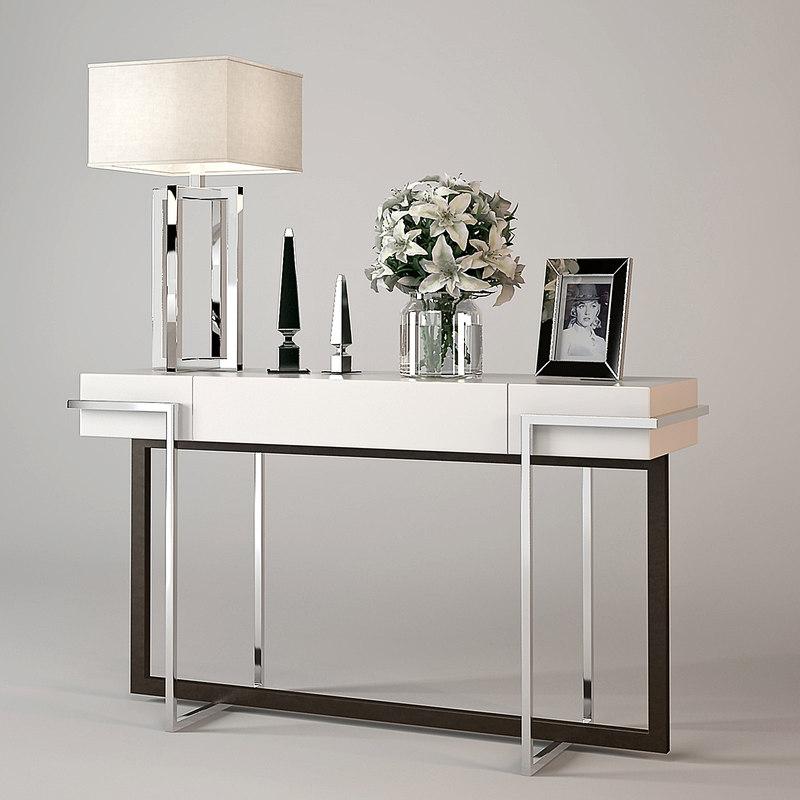 3d model baker iron eye console table