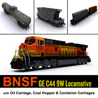 BNSF Locomotive & cargo carriage