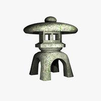 stone lantern model