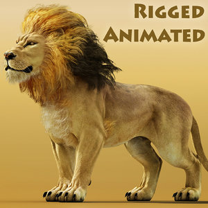 3D fantasy lion model