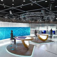Virtual TV Studio News Set 3
