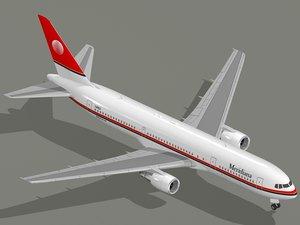 3D boeing 767-300 er meridiana model