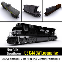 Norfolk Southern Locomotive & Cargo carriage