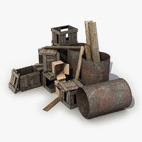 Old Wooden Debris 2