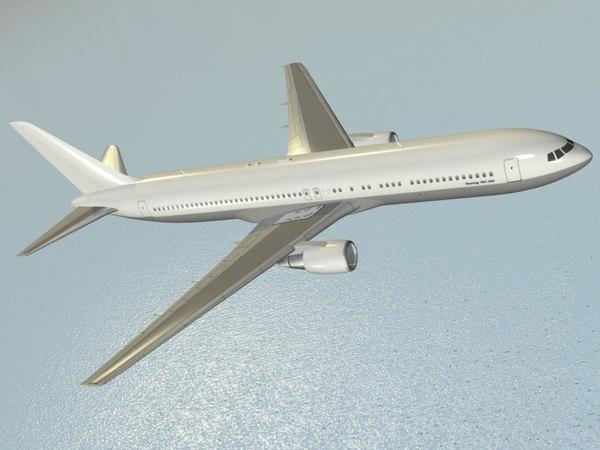 boeing 767-300 er airliner 3d model