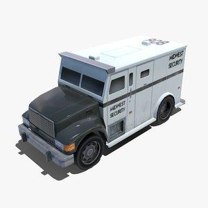 modern armored truck 3d model
